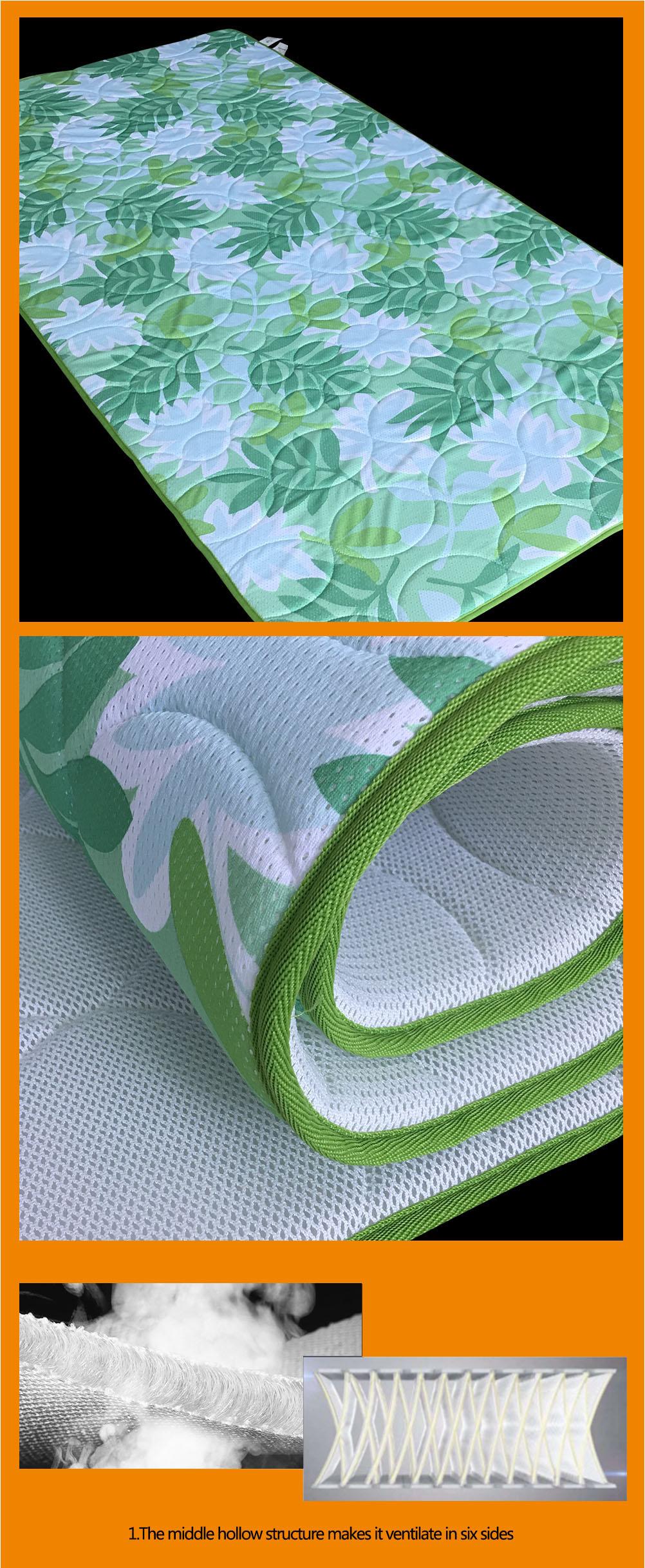 Wellcool comfortable green leaves 3d air mesh mattress topper/mesh mattress protector