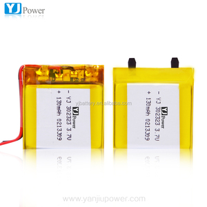 ultra capacitor battery3.7v 300mah 302323 3.7v 130 mah lipo battery with rechargeable battery for solar power