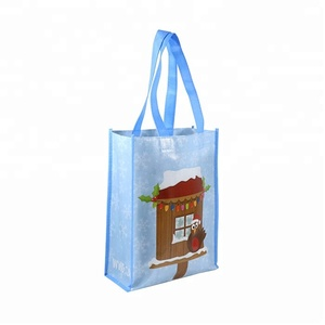 Reusable supermarket grocery carry bag promotional gift custom design non woven fabric carry bag