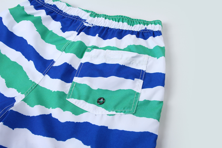 Custom Design Waterproof Polyester Stripe Wholesale Low Price Custom Beach Shorts Swimming Trunks