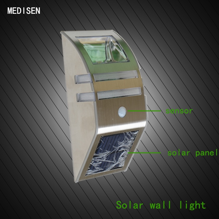 MS-solar wall lamp-0.4 outdoor garden Different sizes opal PMMA Outdoor Wall Fixing Globe Light