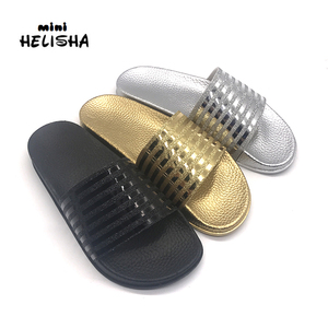 New kind women PVC lady shoes leather upper PCU air blowing injection slipper