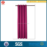 PEVA plain color shower curtain with eyelets