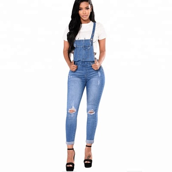 New Fashion Overoll Denim Jean Jumpsuit For Women Buy Blue Jeans