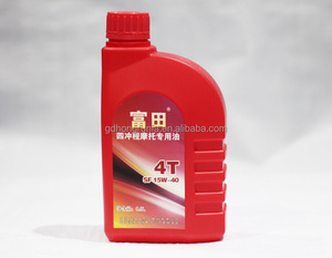 1 Litre Engraving Plastic Bottles Motor Lubricant Packing Bottles Container
