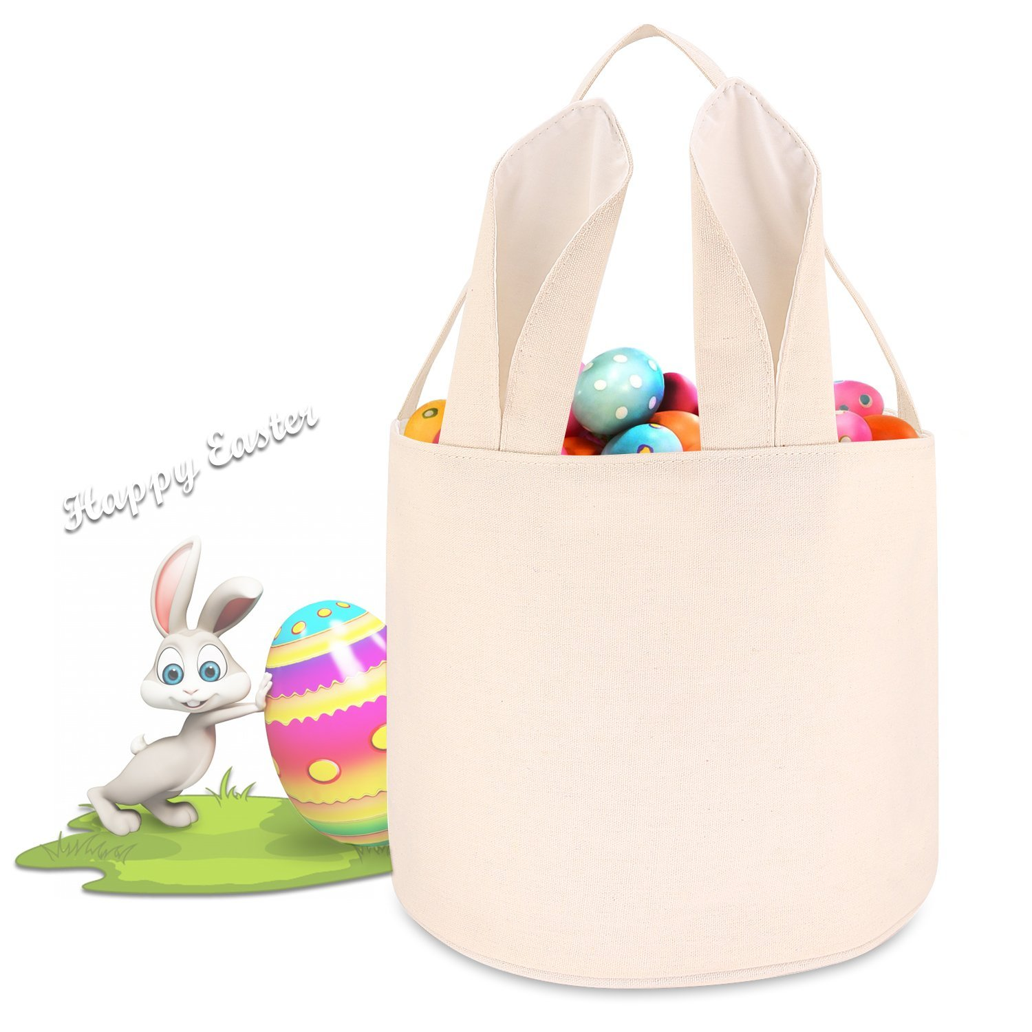 4e20a6dda730 Get Quotations · Easter Baskets For Girls Boys Easter Egg Hunts Party Bag  For Kids Candy Bag Easter Basket