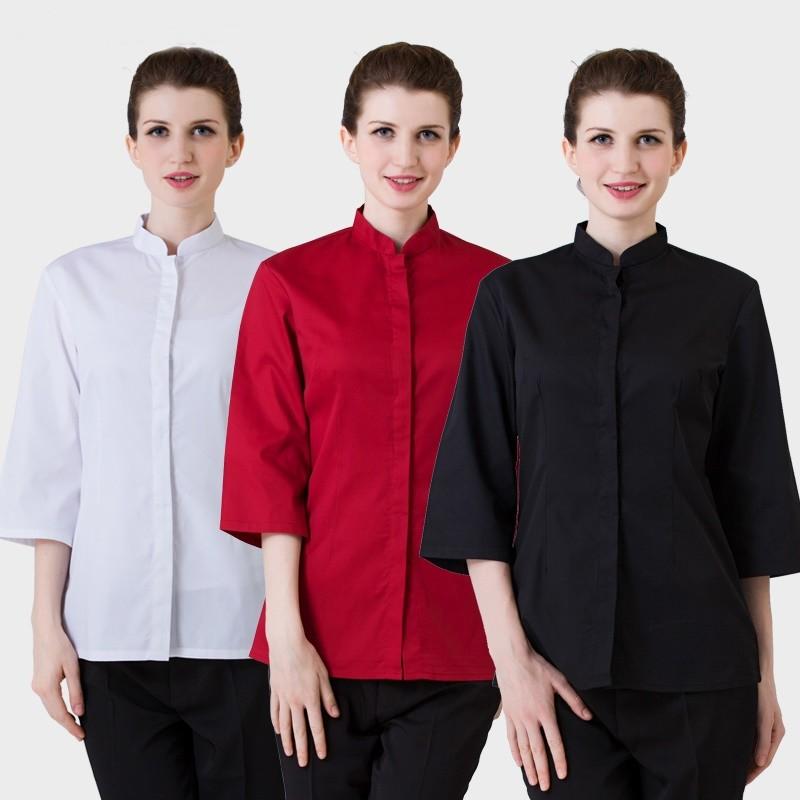 e2a29b4fa87 2019 Food Service Restaurant Waitress Uniforms Women Men Restaurant ...