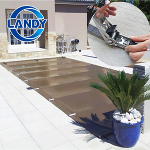 landy build pool pvc pipe mesh fabric safety swimming pool solar cover holder frame for pools
