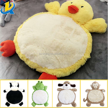 Wholesale soft eco-friendly baby animal shaped funny plush toy mat