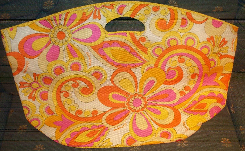 c2667e7249a445 Get Quotations · Clinique Tote Beach Bag ~ Pink Flower