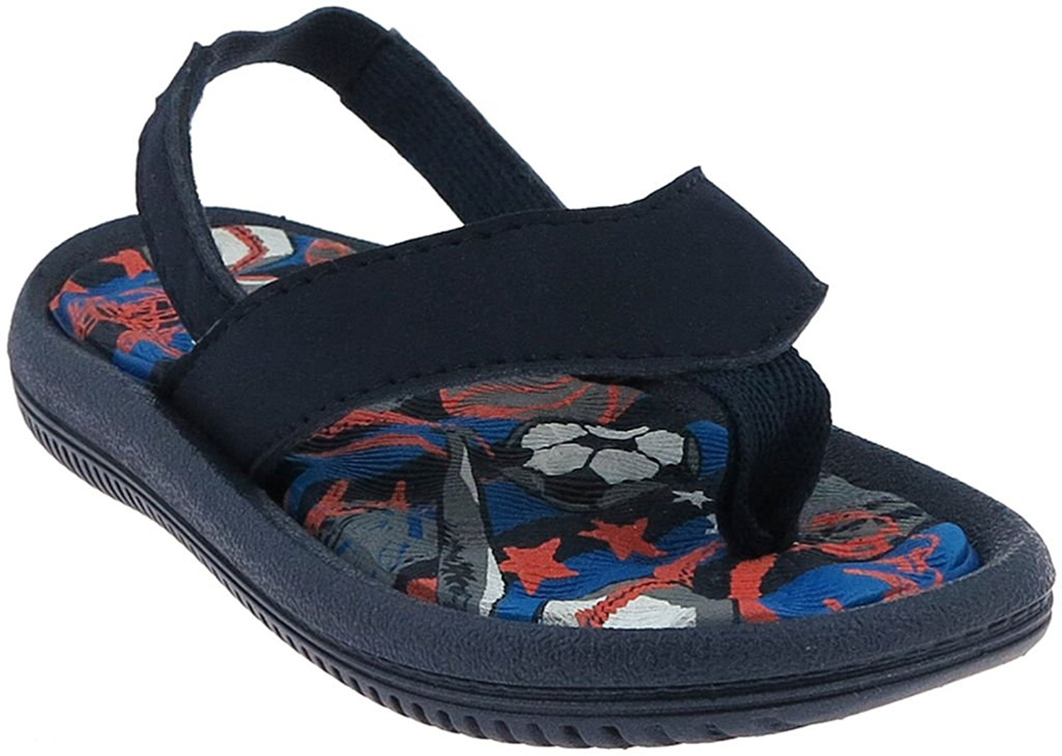 Capelli New York Faux Leather Thong Cool Sports Print Toddler Boys Flip Flop