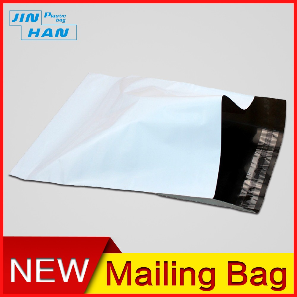 Plastic material white garment bags/ shipping mailing bags/document envelopes