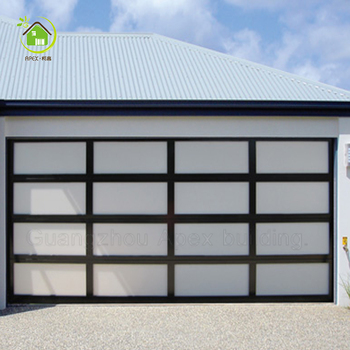 Aluminum House Insulated 8x7 Glass Car Garage Door For Residential