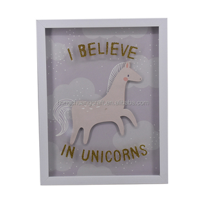 Glitter design wall hanging decor with unicorn for baby's room decor