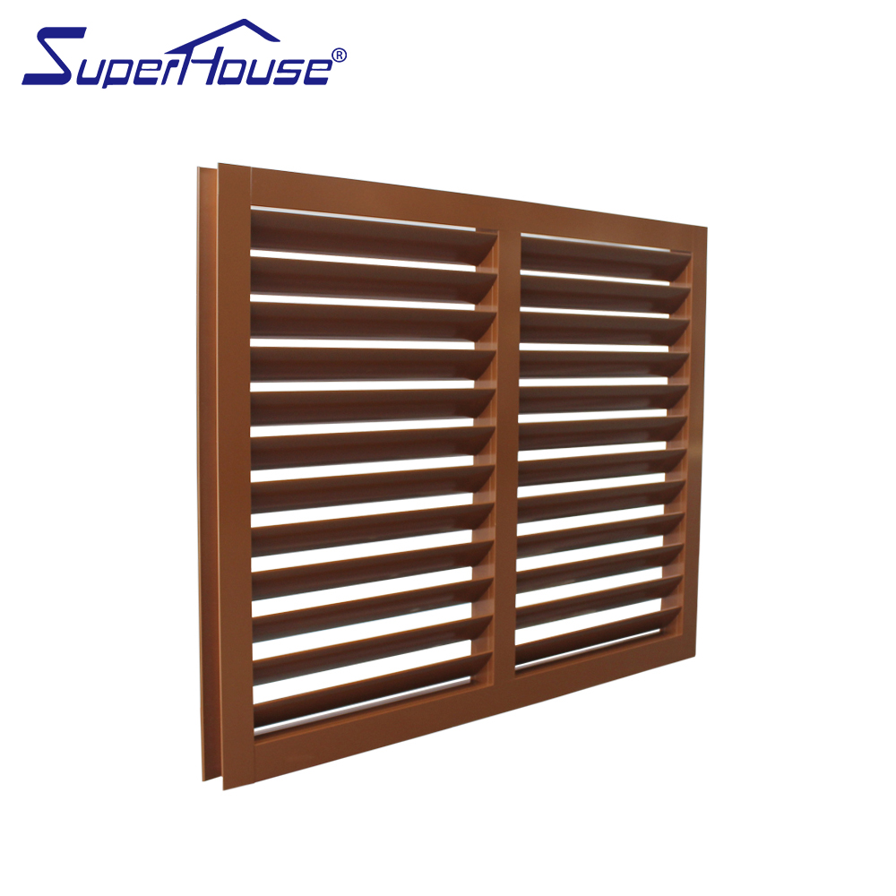 Australia AS2047 standard and NOA standard fixed aluminum wood color window louvre shutter