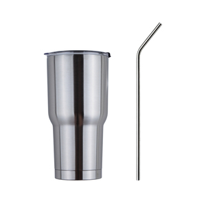 Stainless Steel 304 with Lid Travel Mug With The Straw, 30oz Double Wall Insulated Tumbler Cup