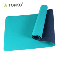 2018 TOPKO TOPKO 4-10mm Anti Slip Double Layers Non Toxic Eco TPE washable yoga mat