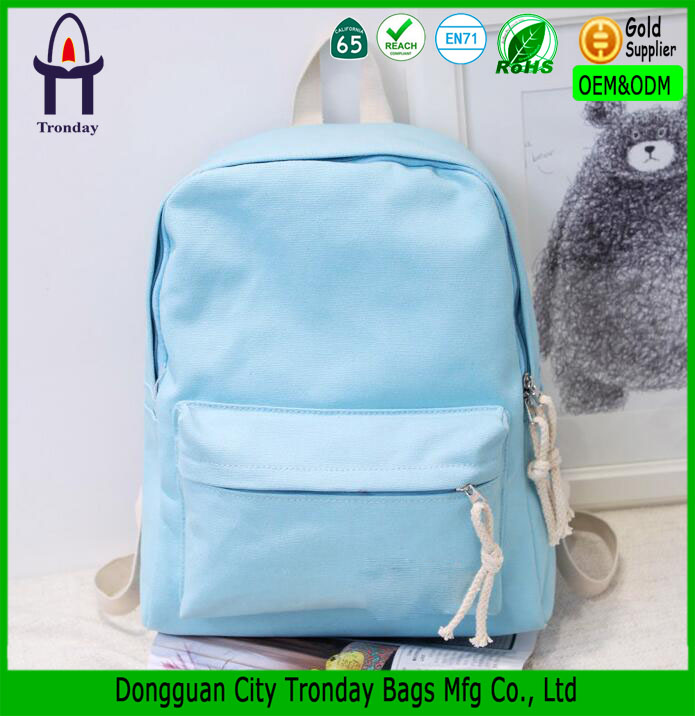 Hot Style Candy Color Teenage School Fashionable Backpack for High School