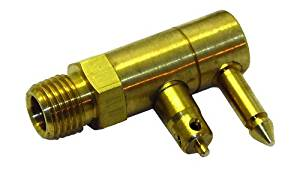 Invincible Marine Fuel Line Connector, Mercury Male Fitting, 2-Prong