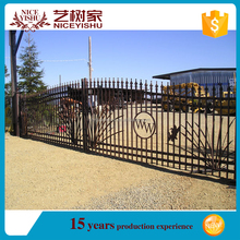 high quality hotel used wrought iron door gate designs