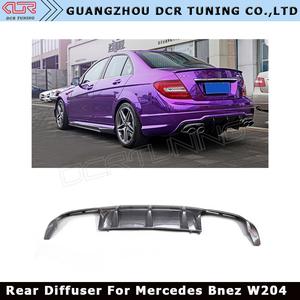 For Mercedes - Benz W204 C Class C180 C200 C250 C350 C63 Amg Carbon Fiber  Rear Bumper Diffuser 2012-UP