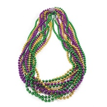 72 pz <span class=keywords><strong>Collana</strong></span> 33 pollice 7mm Metallic Multi Colori Mardi Gras Perline <span class=keywords><strong>Collana</strong></span> di Perline