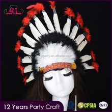 2017 Canival Child Native American Indian Colorful Feather Headpiece