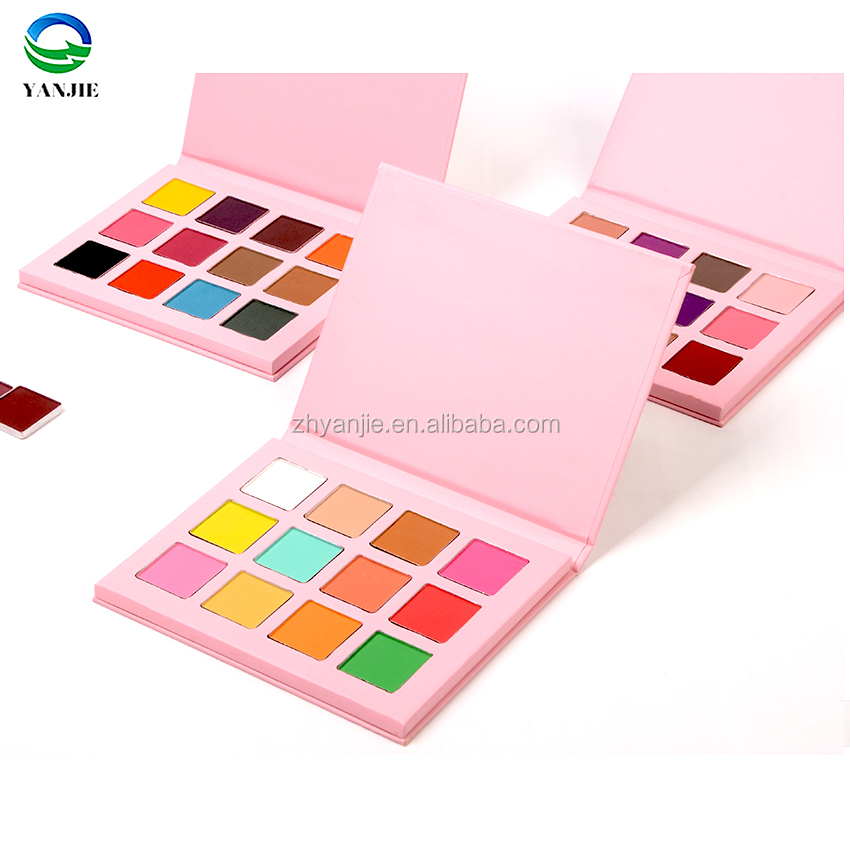 Private label 80 kleuren oogschaduw palet Matte/Shimmer Magnetische Eyeshadow Palette Private Label