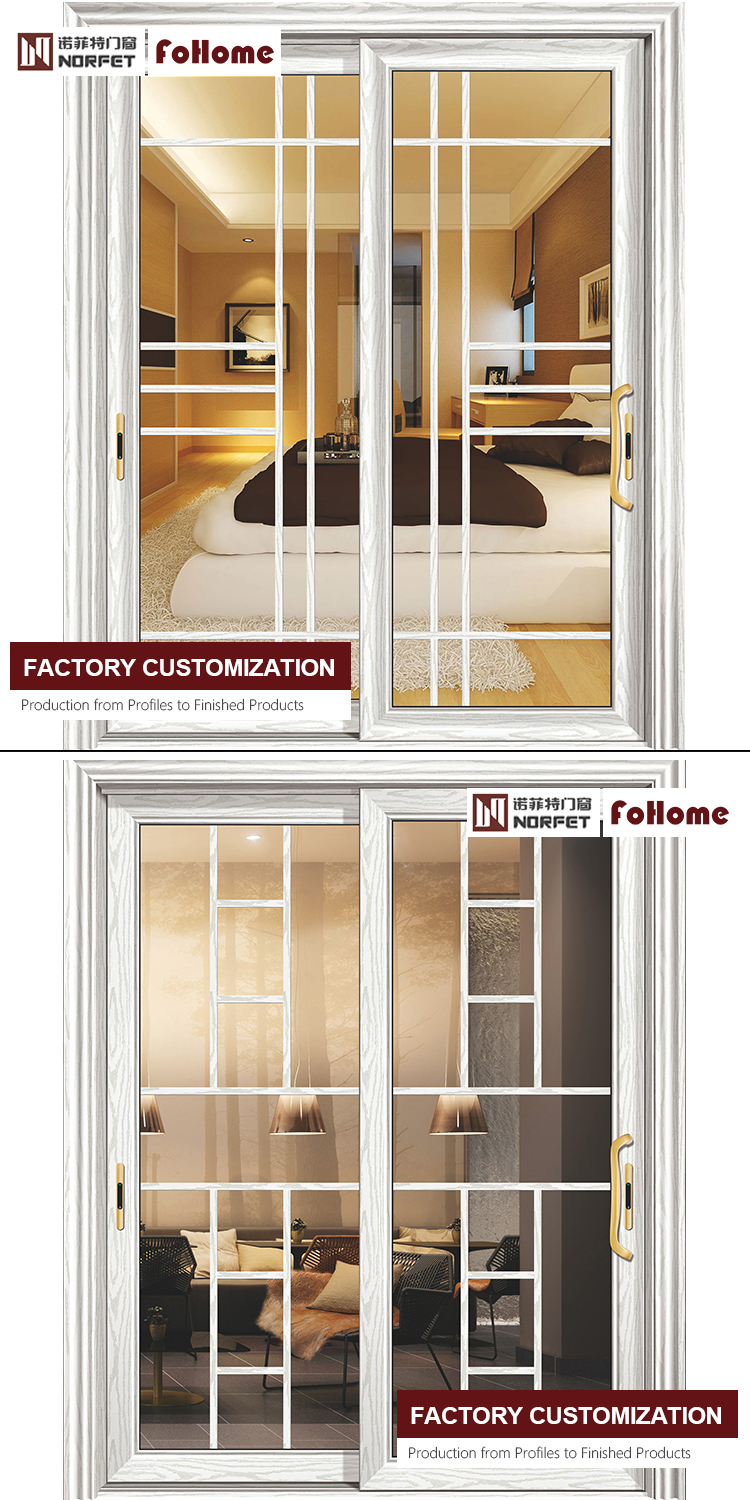 Luxury Front Door Foshan Factory French Court Style Aluminium Sliding Doors