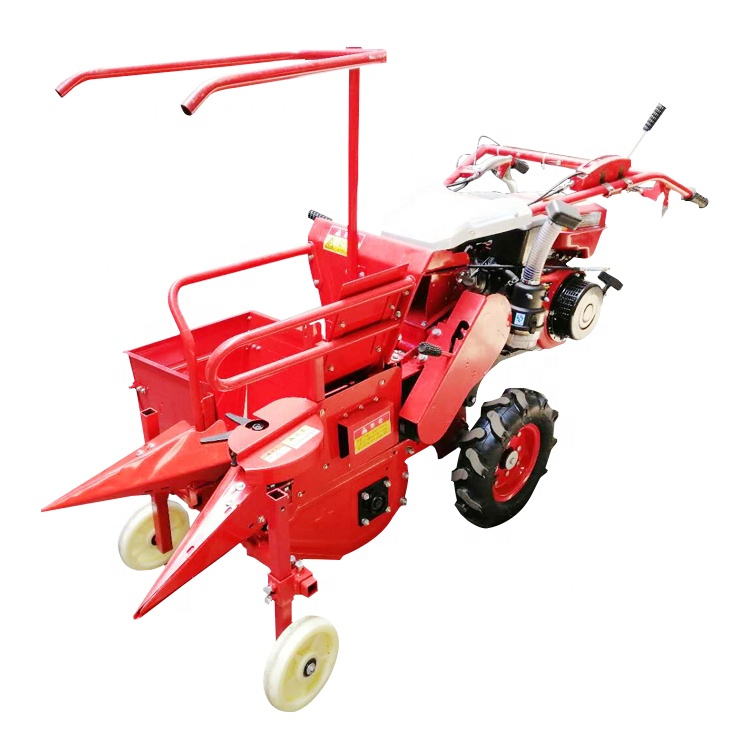 Factory Supply Hand Diesel Engine Combine Mini Corn Harvester