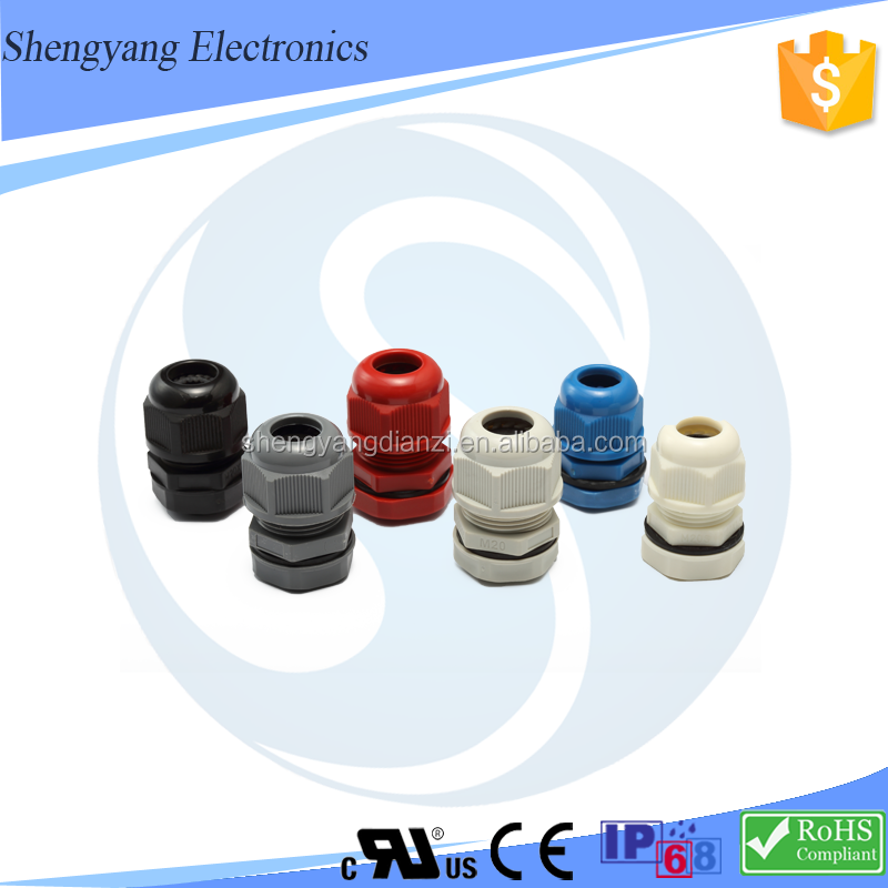 High Quality ip68 nylon cable gland pg 11 thread plastic insert without claw pg waterproof gland plastic pg13.5 cable gland