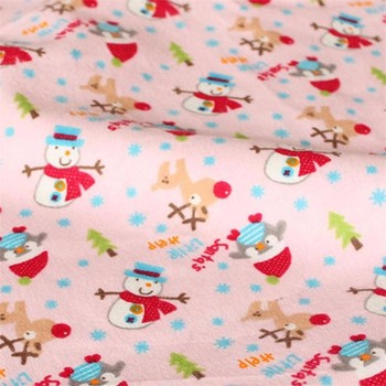 "Textiles Flannel Fabric 100 Cotton Pigment Printed Flannel Fabric 20*10 43/44 "" For Baby Bedding Sets"