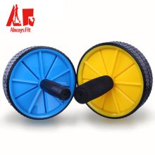 Dual Ab Roller Wheel with Thick Knee Pad Mat and Foam Handles