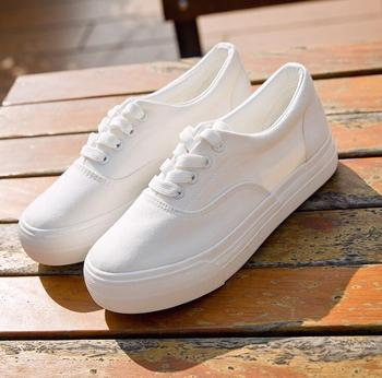 cy11042a cheap white girls canvas shoes women children
