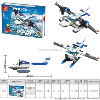 MAKLOKSI Plastic interlocking The Coast Guard Aircraft 3in1 174pcs child building blocks educational science toys