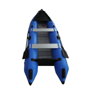 PVC inflatable boat with bimini top, inflatable pontoon fishing boat kayak 420