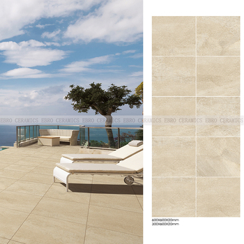 Beige Color Anti Slip Outdoor Floor Tile Mm Thickness Travertine - How thick should porcelain floor tile be