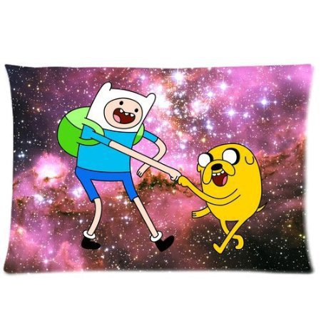 LUQI New Year Present Vintage Jake Finn Amazed Nebula Hipster Adventure Time for Room Zippered Cushion Case Pillowcase 50x75cm