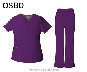 2018 New fashion nursing scrubs/hospital uniform/medical scrubs wholesale