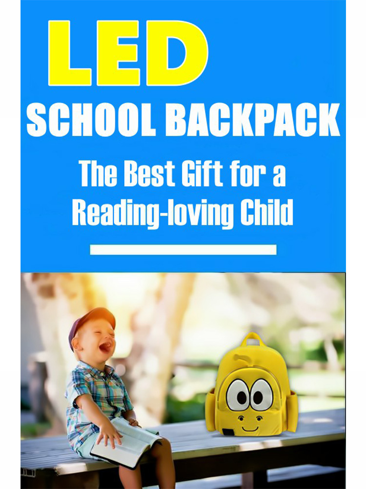 New design for children's gifts cute led backpack high quality led school bag