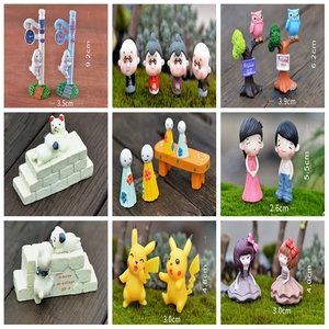 Fairy Garden Miniatures Terrarium Flatback Cabochon Kawaii DIY Resin Craft Decoration Mini metal animal small gnome figurines