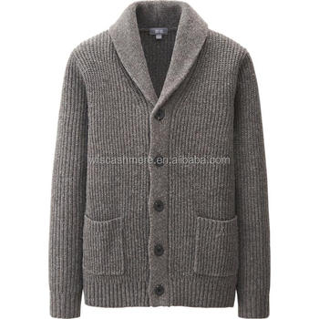 New Spring Cashmere Men Heavy Gauge Shawl Collar Cardigan - Buy ...