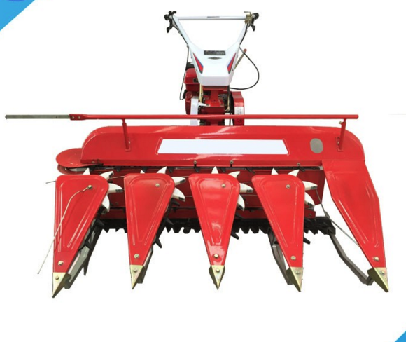 Small Tractor Mounted Combine Wheat Rice Harvester Machine
