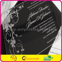 acrylic invitation card for wedding