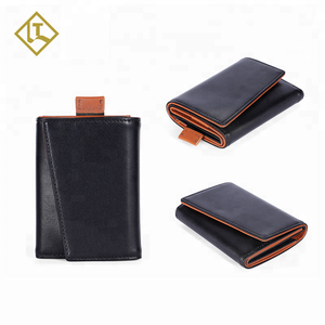 RFID blocking new design brown trifold yong mens custom gary imperial slim leather wallet
