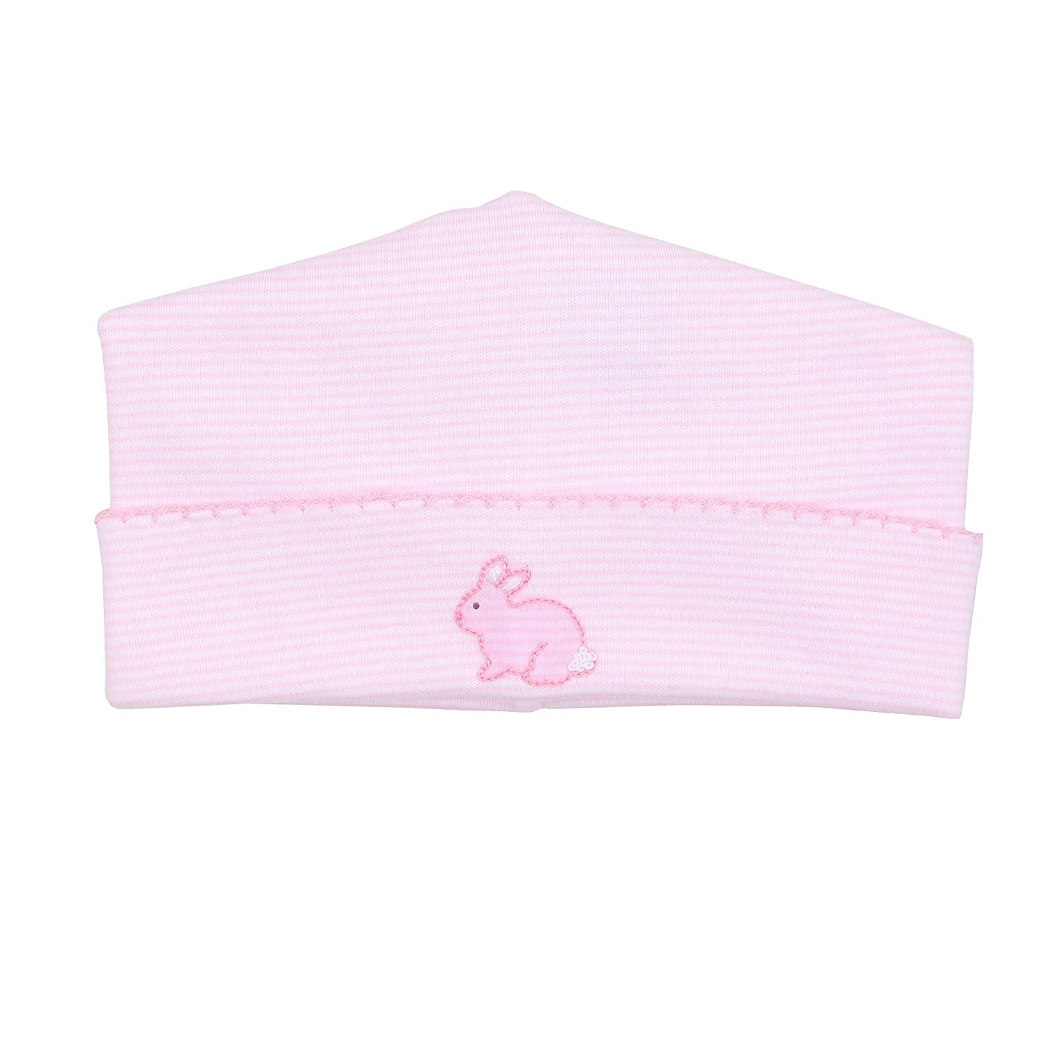 Magnolia Baby Baby Girl Classic Little Bunny Embroidered Hat Pink