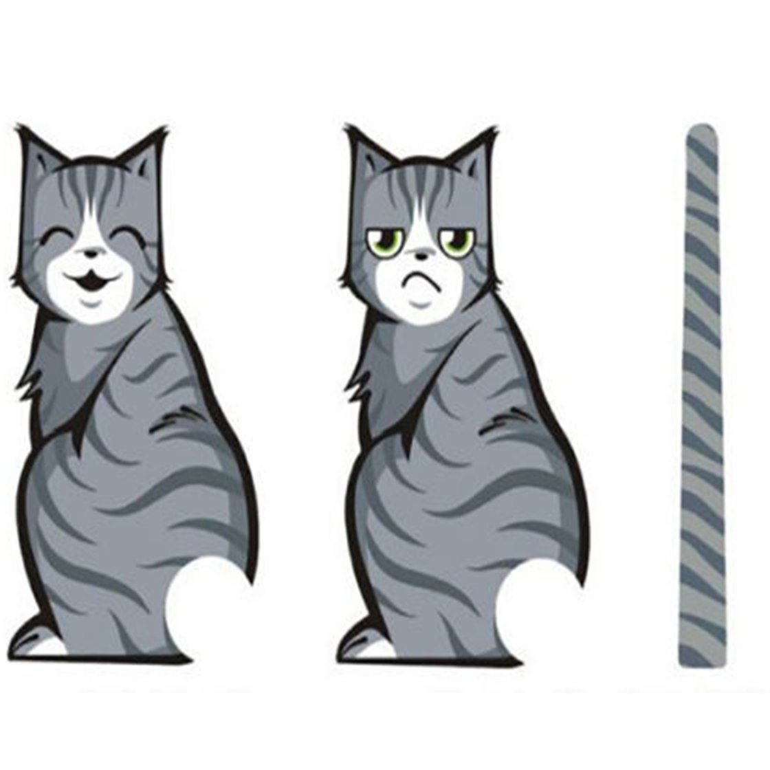 TraveT Funny Cat Car Window Moving Tail Stickers Decals