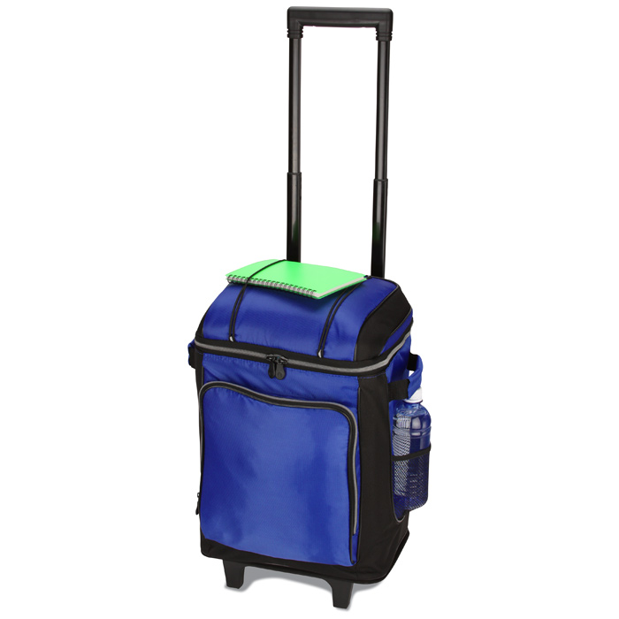 Promotional 42 Can Soft Sided Wheeled Rolling Trolley Cooler Bag