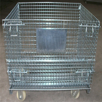 Galvanized Wire Mesh Storage Box Metal Basket Small Wire Mesh Hanging Basket With Handle Buy Wire Mesh Hanging Basket Small Wire Mesh Baskets Metal