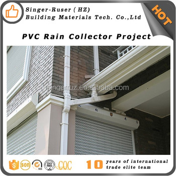 hotsale best quality house drainage system for buildings decorative pvc roof guttering rainwater channel gutter downspout